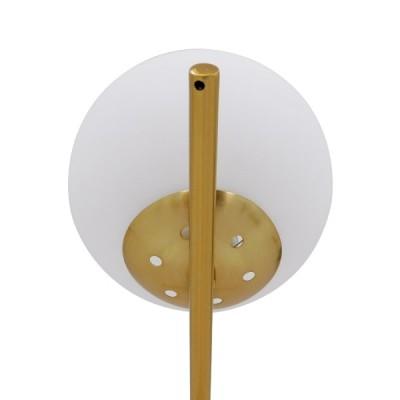 Μοντέρνο επιτραπέζιο φωτιστικό χρυσό με λευκό γυαλί φ15cm