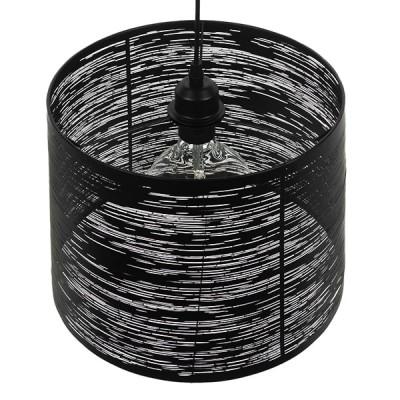 Μοντέρνο Industrial Κρεμαστό Φωτιστικό Μονόφωτο Μεταλλικό Μαύρο Καμπάνα Ø35cm