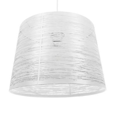 Μοντέρνο Industrial Κρεμαστό Φωτιστικό Μονόφωτο Μεταλλικό Λευκό Καμπάνα Ø35cm