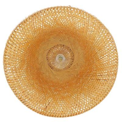 Κρεμαστή καμπάνα καφέ bamboo Φ60cm