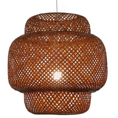 Κρεμαστό Φωτιστικό Καφέ Σκούρο Bamboo Ø56cm