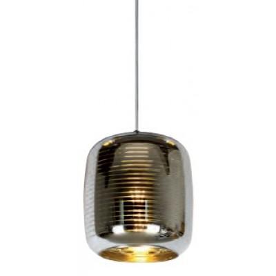 Κρεμαστό φωτιστικό Ø20cm με γυάλινο ημιδιάφανο αμπαζούρ