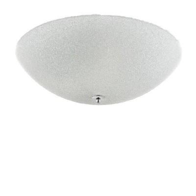 Γυάλινη πλαφονιέρα οροφής Ø50cm off white