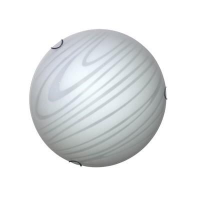 Γυάλινη πλαφονιέρα οροφής Ø40cm σατινέ λευκή