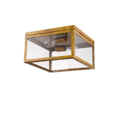 Δίφωτο φωτιστικό οροφής αντικέ μπρονζέ