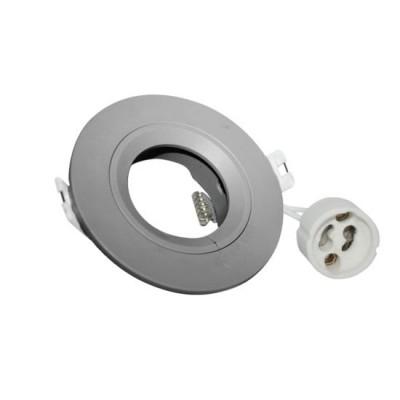 Χωνευτό στρογγυλό σποτ πλαστικό GU10 Ø85mm με τρύπα κοπής Ø60mm
