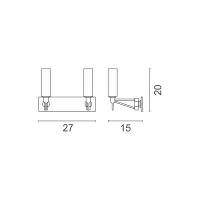 Δίφωτη απλίκα G9 LED 14W