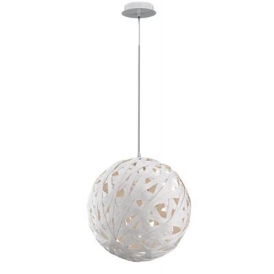 Λευκή κρεμαστή μπάλα από λινό ύφασμα