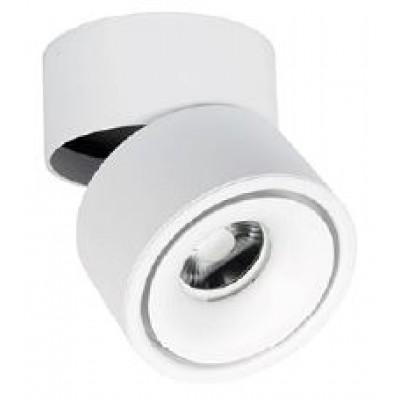 Περιστρεφόμενο σποτ οροφής-τοίχου Ø10cm σε λευκό χρώμα