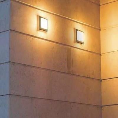 Στεγανή απλίκα τοίχου LED 14x14cm