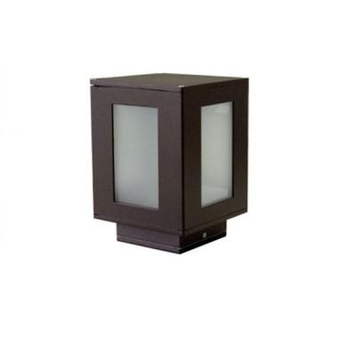 Φωτιστικό κήπου δαπέδου ή μάντρας 15x15x22cm μέταλλο-γυαλί