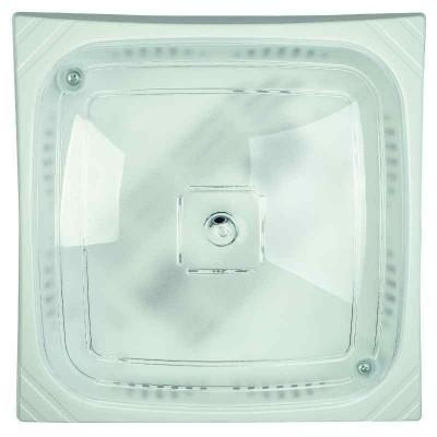 Μονόφωτη πλαφονιέρα οροφής 24x24cm από πολυκαρβονικό