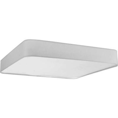 Τετράγωνη υφασμάτινη πλαφονιέρα LED
