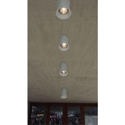 Σποτ οροφής Ø8cm από φυσικό τσιμέντο