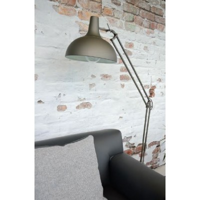 Γκρι σπαστό φωτιστικό δαπέδου 170cm από μέταλλο