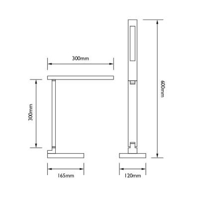 Φωτιστικό γραφείου αφής LED DIMMABLE με δυνατότητα ασύρματης φόρτισης κινητού