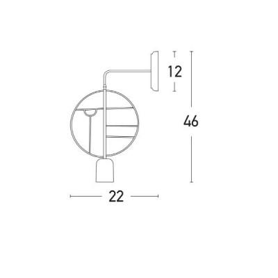 Μοντέρνα απλίκα με στρογγυλό πλαίσιο Φ22cm