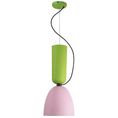 Κρεμαστό μονόφωτο ροζ με πράσινο