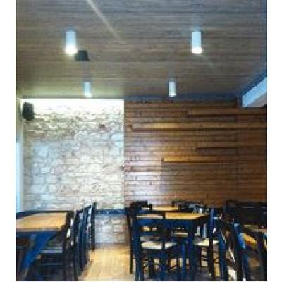 Ορθογώνιο σποτ οροφής 6x6cm σε λευκό χρώμα