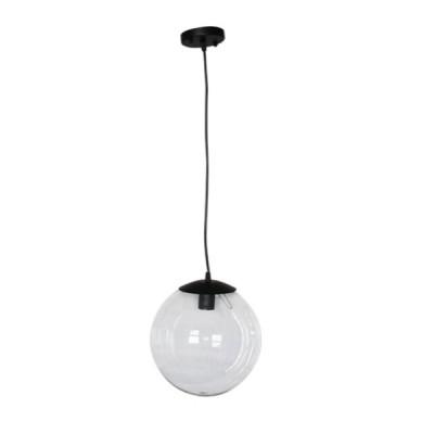 Στεγανό φωτιστικό κρεμαστό Ø25cm διάφανη μπάλα