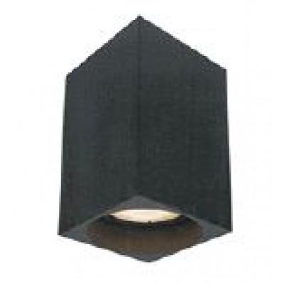 Μαύρο σποτ οροφής 6x6cm σε ορθογώνιο σχήμα