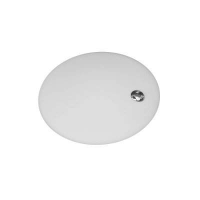 Γυάλινο φωτιστικό σατινέ λευκό Ø50cm