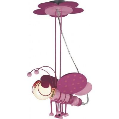 Παιδικό φωτιστικό κρεμαστό ροζ μελισσούλα Ø33cm