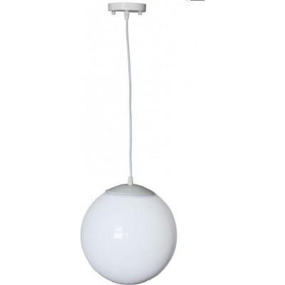 Κρεμαστό φωτιστικό Ø25cm γαλακτερή μπάλα με ανάρτηση