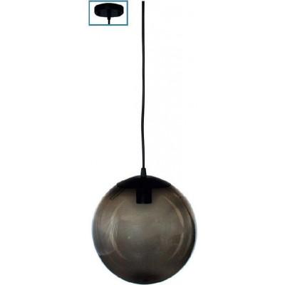 Στεγανό φωτιστικό κρεμαστό Ø25cm φιμέ μπάλα