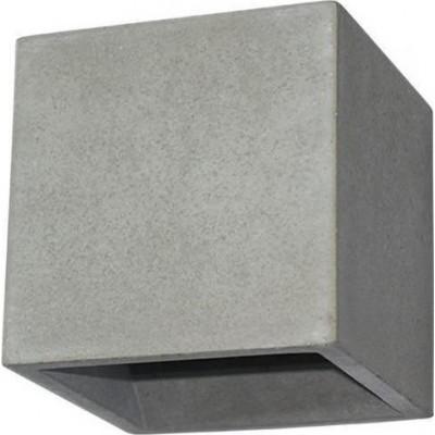 Επίτοιχο φωτιστικό κύβος 12x12cm τσιμεντένιο με δύο εξόδους φωτός