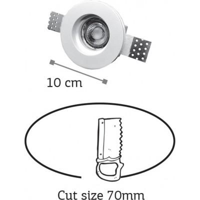Χωνευτό σποτ στρογγυλό Ø10cm από γύψο