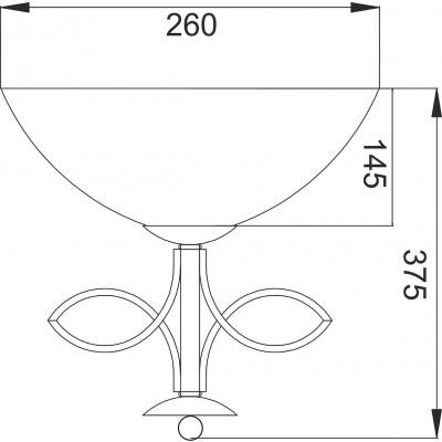 Φωτιστικό τοίχου 26x38cm με γυάλινη καμπάνα