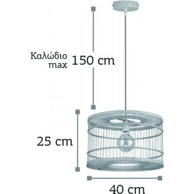 Kρεμαστό φωτιστικό Ø40cm κλουβί από ρατάν