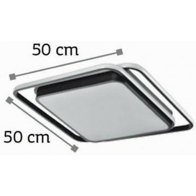Πλαφονιέρα οροφής LED 50x50cm με τετράγωνα