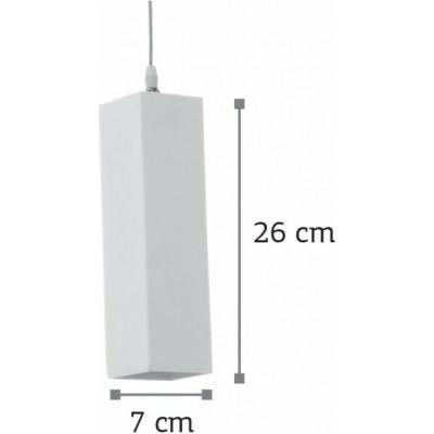 Γύψινο κρεμαστό φωτιστικό ορθογώνιο 7x7x26cm