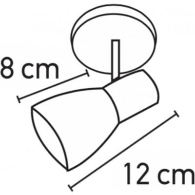 Κλασσικό σποτάκι Ε14 με γυάλινη κεφαλή