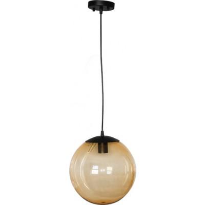 Στεγανό φωτιστικό κρεμαστό Ø25cm μελί μπάλα