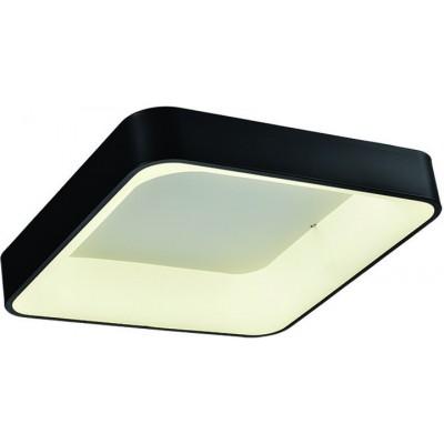 Φωτιστικό οροφής μεταλλικό τετράγωνο 56x56cm