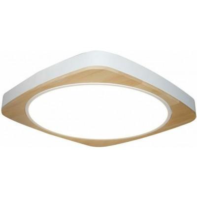 Φωτιστικό οροφής LED 56x56cm λευκό αλουμίνιο με ξύλο