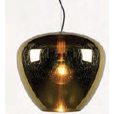 Κρεμαστό φωτιστικό Ø40cm με χρυσή γυάλινη καμπάνα