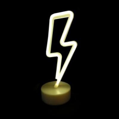 Παιδικό πορτατίφ με μπαταρίες LED κεραυνός 27cm