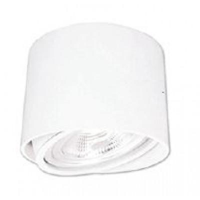 Λευκό κυλινδρικό σποτ οροφής Ø13cm σε λευκό χρώμα