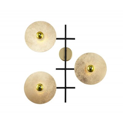Τρίφωτη απλίκα με χρυσά πιάτα 50x53cm