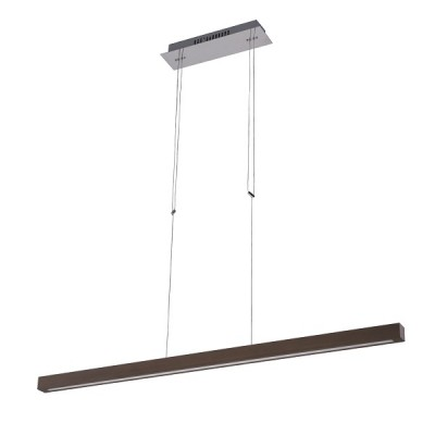 Γραμμικό LED φωτιστικό από φυσικό ξύλο 105cm