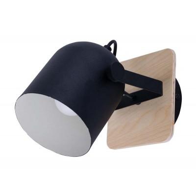 Μεταλλικό σποτ Ø14cm με ξύλινη βάση