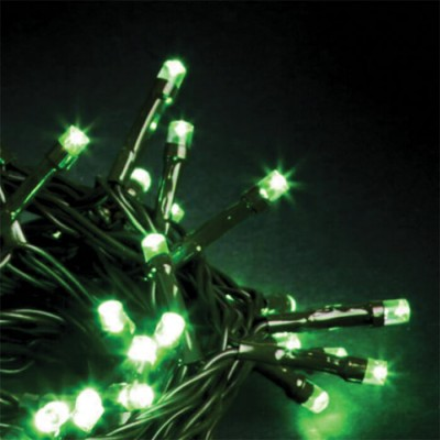 Στεγανό σύρμα 14m πράσινο-140leds σε πράσινο φως σταθερό