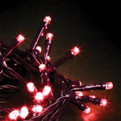 Στεγανό σύρμα 14m πράσινο-140leds σε κόκκινο φως σταθερό