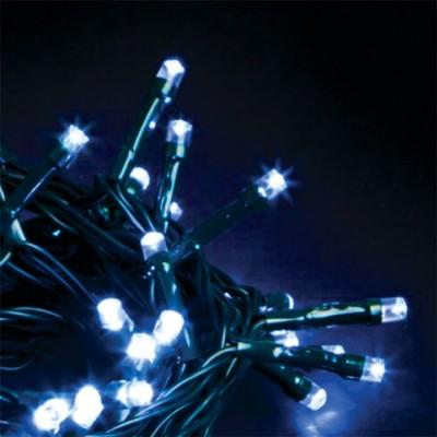 Στεγανό σύρμα 14m πράσινο-140leds σε μπλε φως σταθερό