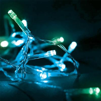 Στεγανό σύρμα cluster 20m-200leds σε μπλε-πράσινο φως με controller