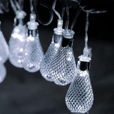 Μεταλλικές λάμπες LED γιρλάντα 150cm-10leds σε ψυχρό φως